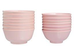 Plastic Bowls Stock Image