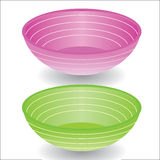 Plastic bowls. Vector illustration EPS10 Royalty Free Stock Photo