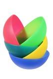 Plastic Bowls. On White Background Royalty Free Stock Image