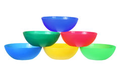 Plastic Bowls Royalty Free Stock Photo