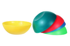Plastic Bowls Royalty Free Stock Photos