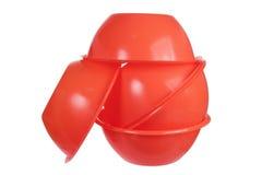 Plastic Bowls. On White Background royalty free stock photo