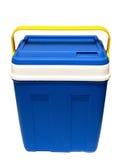 Plastic box. The dark blue plastic box on a white background Stock Photos