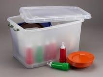 Plastic box. Studio photography of a translucent plastic box Royalty Free Stock Photos
