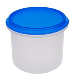 Plastic box. Simple plastic box on a white background royalty free stock photography