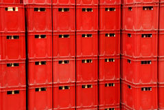 The plastic box. The plastic beer box background Royalty Free Stock Photo
