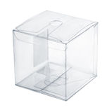 Plastic box. Empty transparent plastic box isolated on white Royalty Free Stock Images