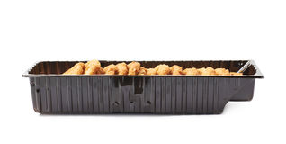 Plastic box filled with cookies  Royalty Free Stock Photos
