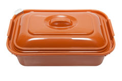 Plastic box with foodstuff Royalty Free Stock Photos