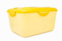 Plastic box  isolated Stock Image
