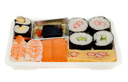 Plastic Box Of Sushi Stock Images