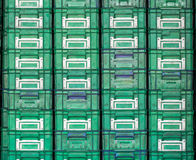 Plastic box placed orderly Royalty Free Stock Photography