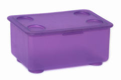 A plastic box. Royalty Free Stock Images
