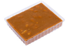 Plastic box with sherbet Stock Photography
