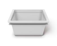 Plastic box for toys  on white background Stock Image