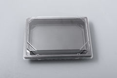 Plastic box with transparent cover for food Royalty Free Stock Photography