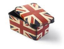Plastic box with UK fla Stock Photos