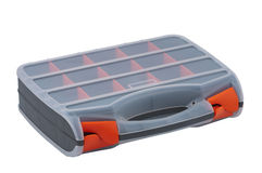 Plastic box for a variety of small items. Stock Photo