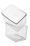 Plastic Boxes. On White Background stock photo