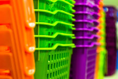 Plastic boxes Royalty Free Stock Images