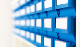 Plastic boxes for components. Plastic boxes for electronic components royalty free stock image