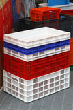 Plastic crates Stock Photography