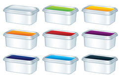 Plastic boxes Royalty Free Stock Photography