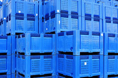 Plastic boxes storage Stock Photography