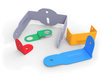 Plastic brackets Stock Images