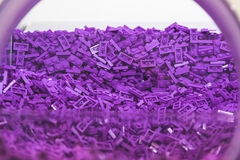 Plastic Brick Toy in Purple Colour Royalty Free Stock Photos