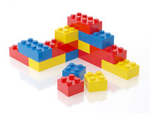 Plastic Brick Wall Toy Illustration Isolated on White Background Royalty Free Stock Photo