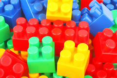 Plastic bricks background Stock Photo