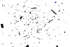 Plastic bricks explosion Royalty Free Stock Images