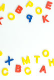 Plastic brieven Stock Afbeeldingen
