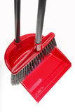 Plastic broom with dustpan Stock Image