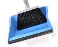 Plastic broom with dustpan Royalty Free Stock Images