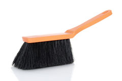 Plastic broom on isolated white background Royalty Free Stock Photos