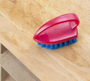Plastic brush for cleaning surfaces stock photography
