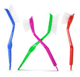 Plastic Brushes stock photo