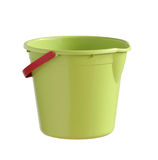Plastic bucket. With clipping path isolated on white background Royalty Free Stock Photo