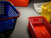 Plastic bucket in concept of storage.  royalty free stock photography