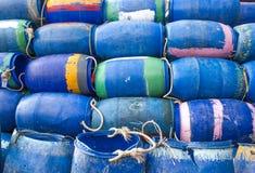 Plastic bucket for fishermen Stock Photo