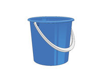 Plastic bucket Royalty Free Stock Photos