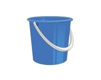 Plastic bucket. Illustration of a blue plastick bucket Royalty Free Stock Photos