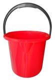 Plastic bucket isolated - red Stock Photo