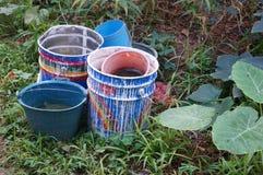 Plastic bucket Stock Images