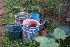 Plastic bucket Stock Photography