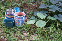 Plastic bucket Royalty Free Stock Photography