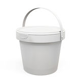 Plastic bucket products for your design. 3d. Plastic bucket products isolated on white background for your design. 3d illustration Stock Images