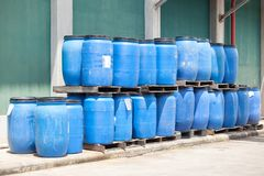 Plastic Bucket With Big Blue Royalty Free Stock Images
